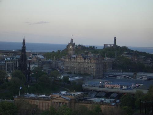 [Picture: Sunset over Edinburgh 5]