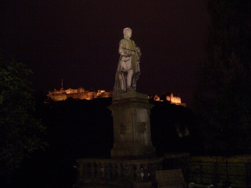 [Picture: Statue at night]