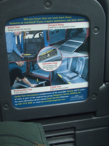 [Picture: Accessible Taxi 2]