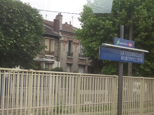 [Picture: La Courneuve Aubervilliers SNCF station]