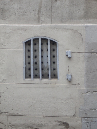 [Picture: Grated window]