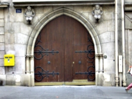 [Picture: Church door]