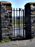 [picture: Cemetary gate]