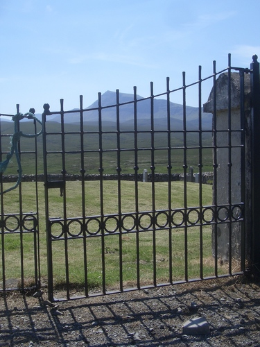 [Picture: Cemetary gates]