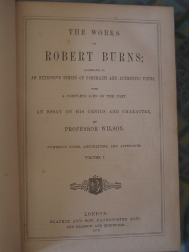 [Picture: The Works of Robert Burns]