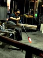 [picture: Blowing glass]