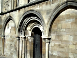 [picture: Norman archway]