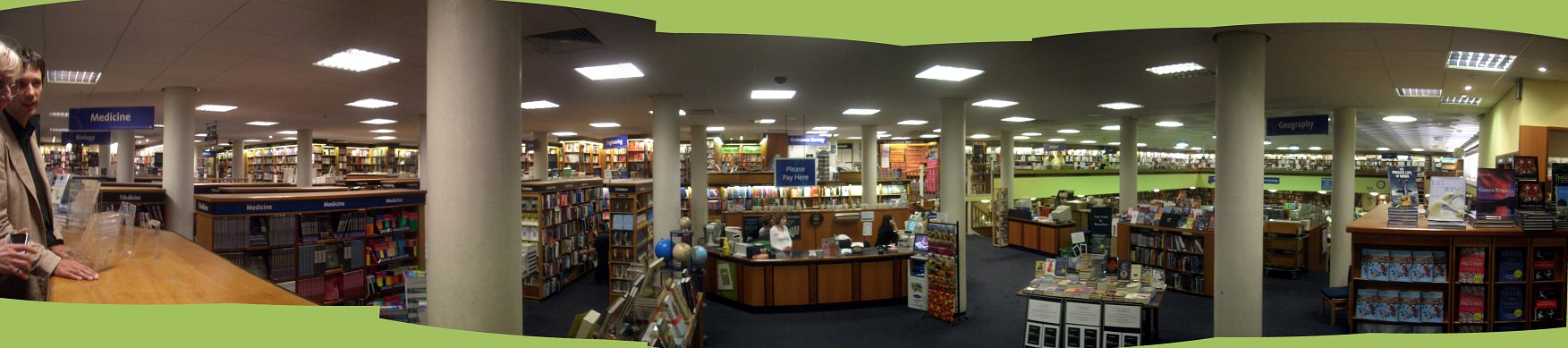 [picture: Blackell's Bookshop Panorama]