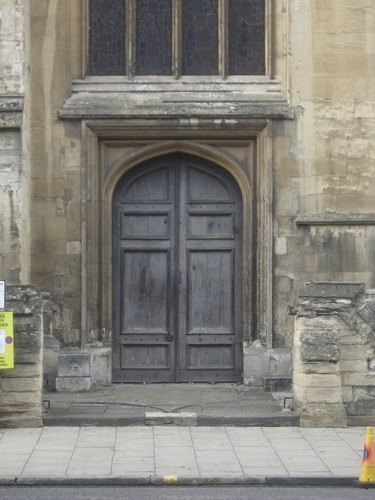 [Picture: St. Mary's side door]