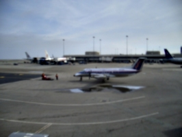 [picture: Parked plane, fuzzy mode]