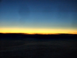 [picture: Sunset over the clouds 2]