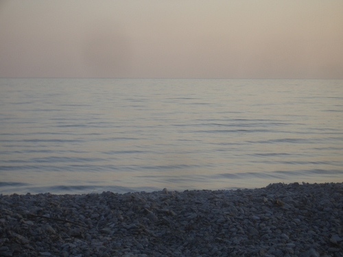 [Picture: Gentle waves at sunset 3]