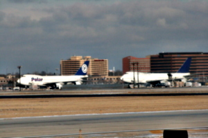 [picture: Chicago airport: Polar and another 'plane]