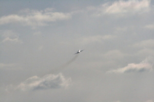 [picture: Chicago airport: 'plane in flight 2]