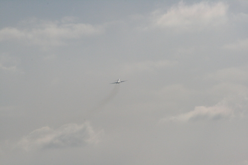 [Picture: Chicago airport: 'plane in flight 3]