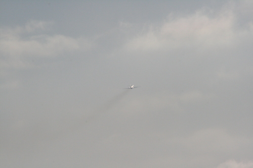 [Picture: Chicago airport: 'plane in flight 4]