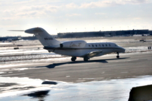[Picture: Chicago airport: A smaller 'plane]