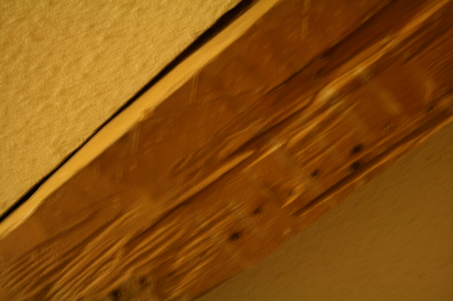 [Picture: Blurry ceiling]