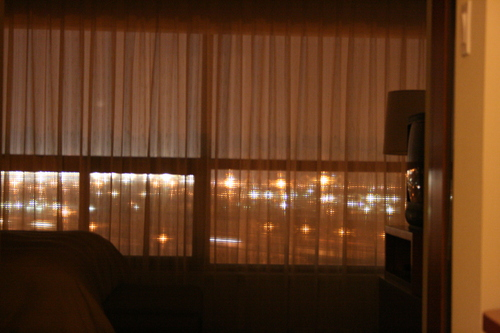 [Picture: Through the hotel window 1]