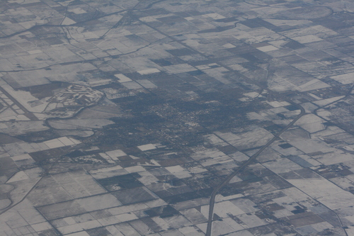 [Picture: Snowy fields patchwork quilt]