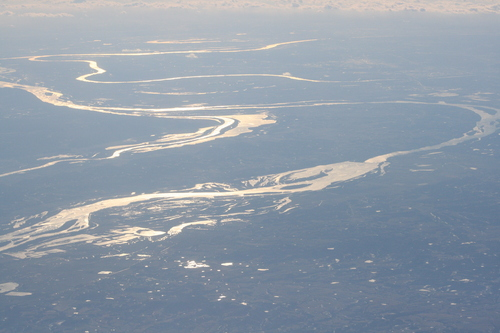 [Picture: Frozen river from the air]