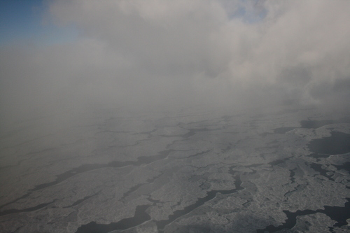 [Picture: Ice and Clouds on the Great Lakes 22]
