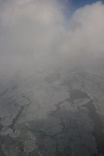 [Picture: Ice and Clouds on the Great Lakes 23]