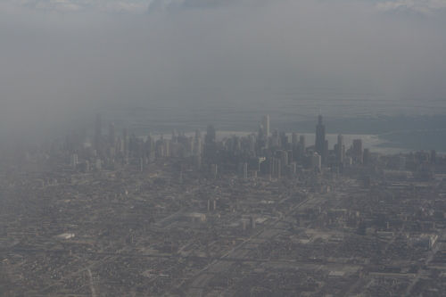 [Picture: Downtown Chicago: aerial view 1]