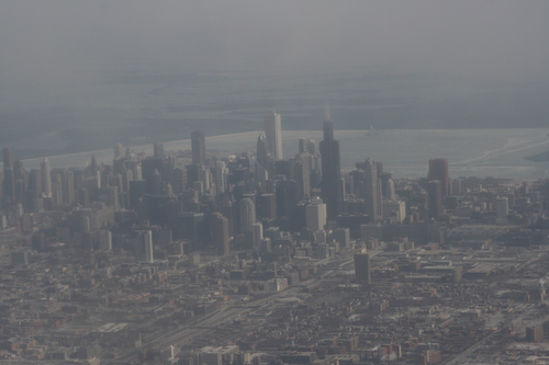 [Picture: Downtown Chicago: aerial view 3]