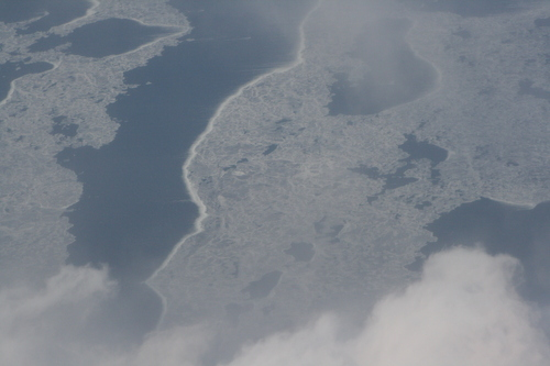 [Picture: Clouds over ice on Lake Michigan 2]