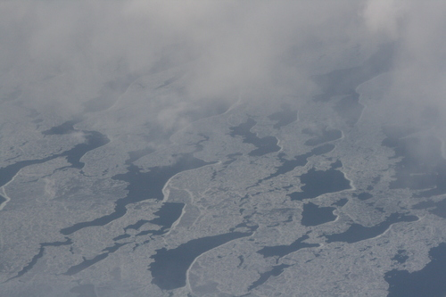 [Picture: Clouds over ice on Lake Michigan 3]
