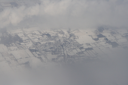 [Picture: Snow-covered fields seen through clouds 13]
