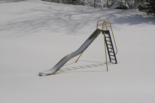 [Picture: No-one on the slide today 2]