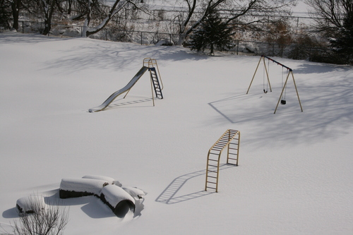 [Picture: No-one on the slide today 3]