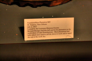 [picture: Fountainebleau Plantation Bell 3: the caption]
