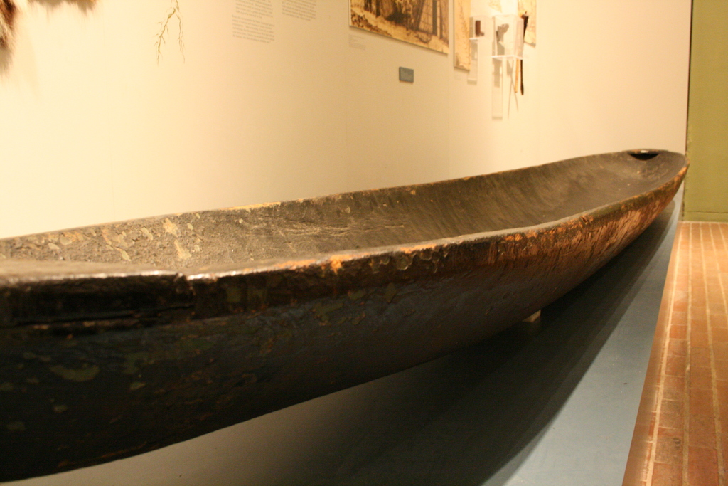 [Picture: Dug-out canoe, or pirogue]