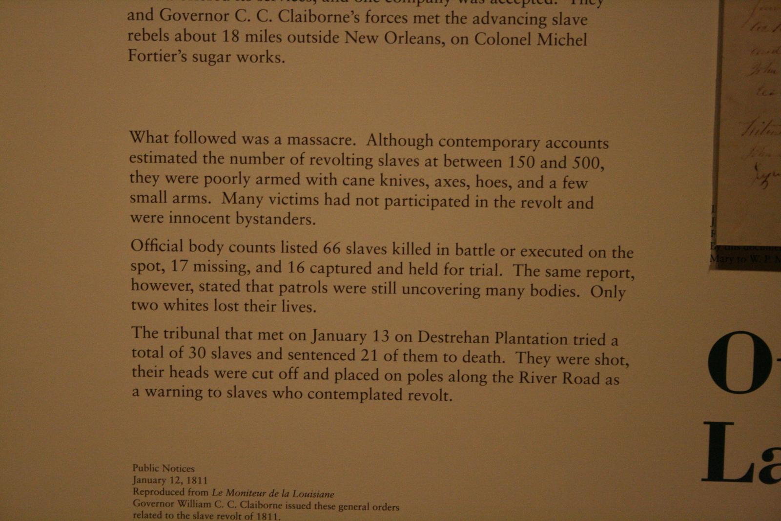 [Picture: The 1811 Slave Revolt Caption 2]