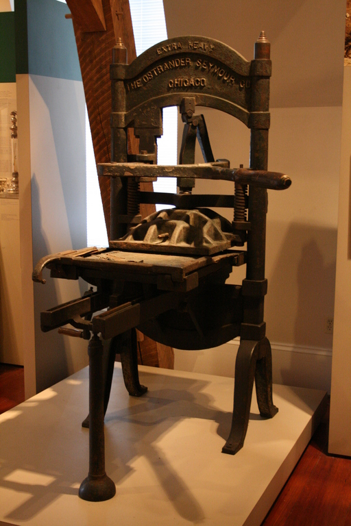 [Picture: Ostrander Printing Press 1]