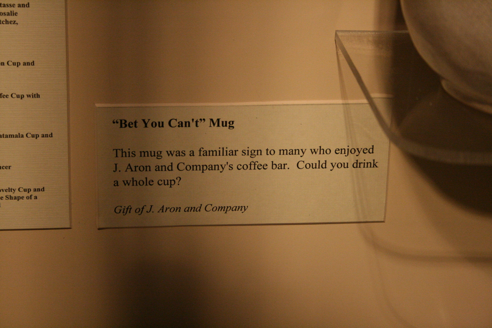 [Picture: Met you can't mug 2: the caption]
