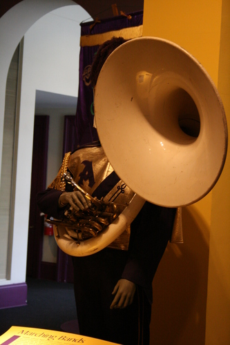 [Picture: Marching bandsman]