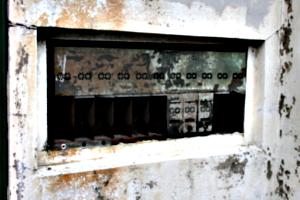[picture: Antique pigeon-holes]