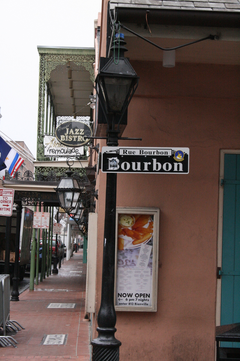 [Picture: Bourbon Street lamppost]