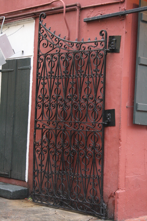 [Picture: Wrought iron gate]