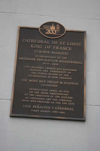 [Picture: Cathedral of St. Louois (sign)]