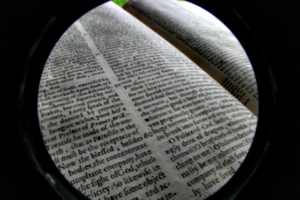 [picture: Closeup words 10: the sight of God (wide-angle fish-eye)]