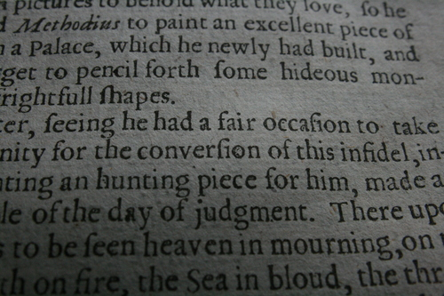 [Picture: Closeup words 2: for the conversion of this infidel]