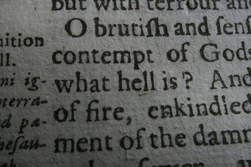 [Picture: Closeup words 7: what hell is?]