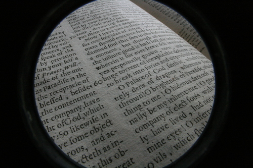 [Picture: Closeup words 11: company of elect souls (wide-angle fish-eye)]
