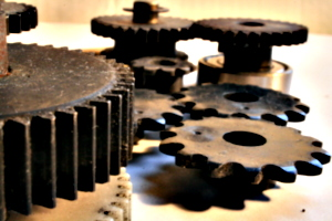 [Picture: Cogs 9: Closer, but with the rear ones in view]