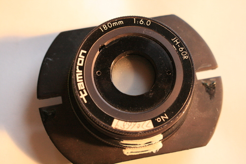 [Picture: tamron photocopier lens 1: top view]